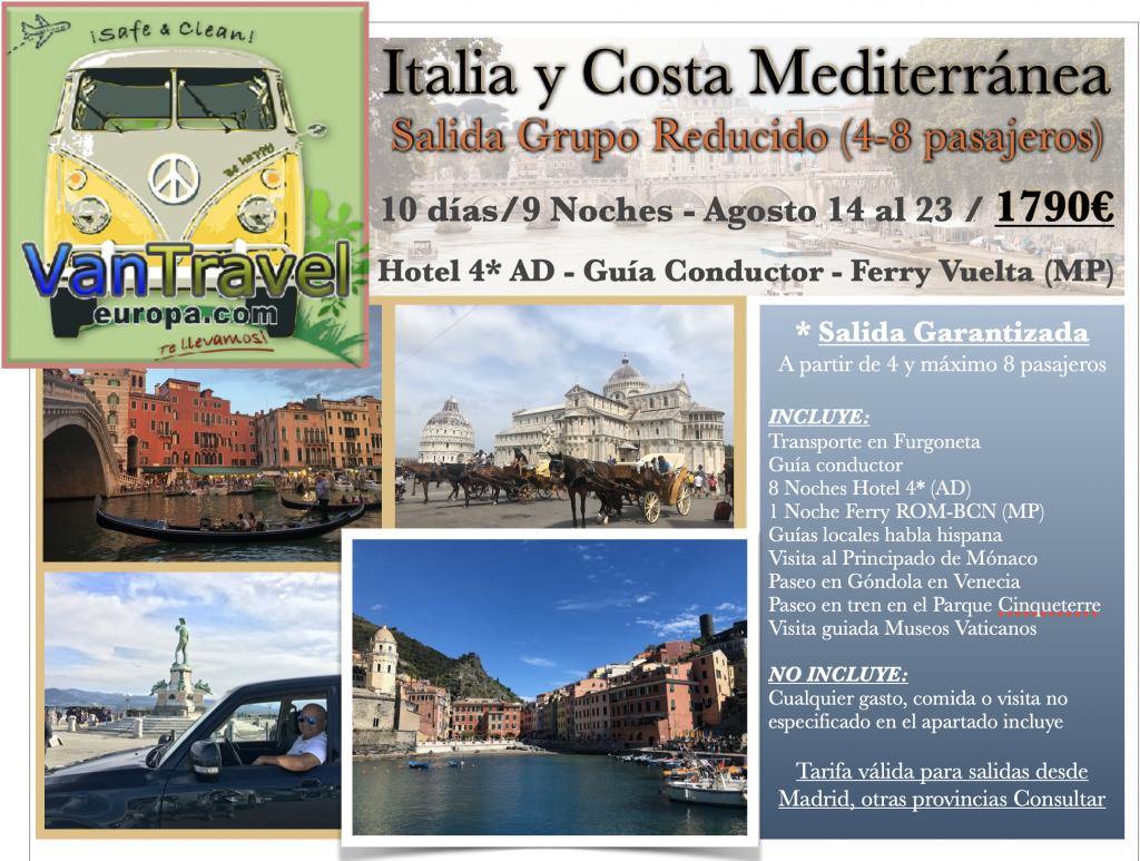 Italia y Costa Mediterránea 10 días/9Noches